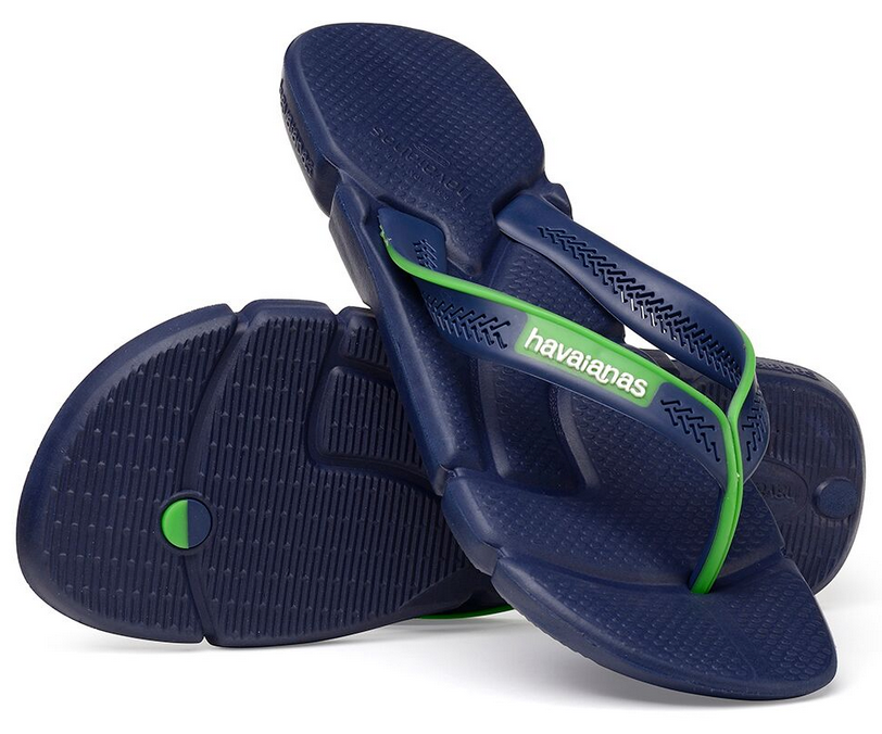 ec11981b0 ... Havaianas Men`s Brazilian Flip Flops Power Sandal Navy Blue and White  ...