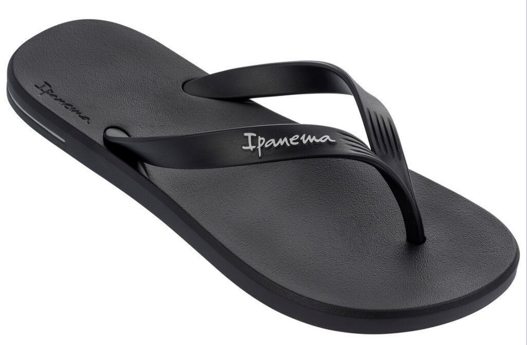 Ipanema Men`s Flip Flops Posto 10 Sandal Black Brazilian Sandals