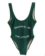 Private Party Swimwear One Piece Black Survival of the Littest Swimsuit