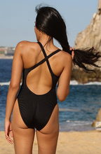 UjENA Women`s Swimwear California Black One Piece Swimsuit Bathing Suit