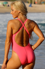 UjENA Women`s Swimwear California Hot Pink One Piece Swimsuit Bathing Suit