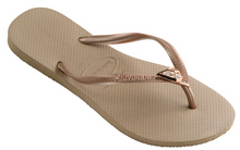 Havaianas Women`s Flip Flops Slim Epic Sandal Rose Gold with Swarovski Crystals