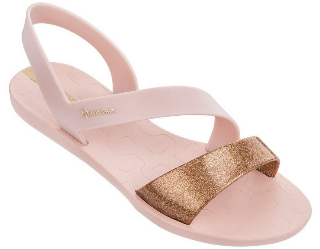 Ipanema Women`s Sandals Vibe Pink and Bronze Brazilian Sandals