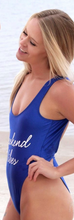 Private Party Swimwear One Piece Swimsuit Weekend Vibes Cobalt Blue Swimsuit