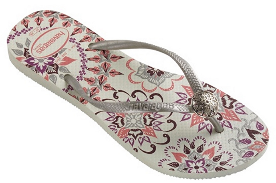 Havaianas Women`s Flip Flops Sexy Slim Thematic Sandal White / Silver