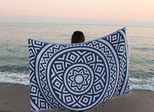 Bersuse Turkish Beach Towels Venice Black Large Beach Towel