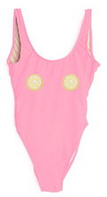 Private Party Swimwear One Piece Swimsuit Lemon Patches Bubblegum Pink Swimsuit