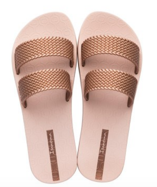Ipanema Women`s Flip Flops City Sandal Pink and Pink Slide Sandals