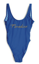 Private Party Swimwear Paradise One Piece Swimsuit Blue 1-PC Swimsuit