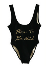 Private Party Swimwear Born To Be Wild One Piece Swimsuit Black 1-PC Swimsuit