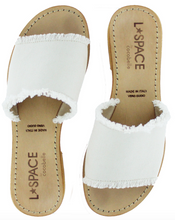 L*Space by Cocobelle Women`s Sandals Sunday Slide Leather Sandal Ivory