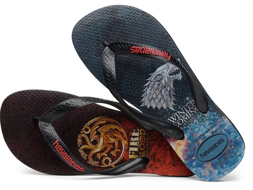 Havaianas Women`s Flip Flops Game of Thrones Sandal Black Sandals