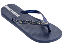 Ipanema Women`s Flip Flops Pebble Sandal Black / Rhinestones Sandals