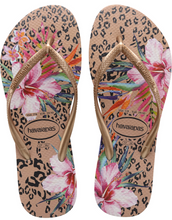 Havaianas Women`s Flip Flops Slim Animal Floral Sandals Crocus Rose