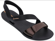 Ipanema Women`s Sandals Vibe Sandal Black Metallic Black Brazilian Sandals