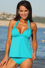 UjENA Swimwear Teal Open-Back Tankini Sexy Bikini Swimsuit