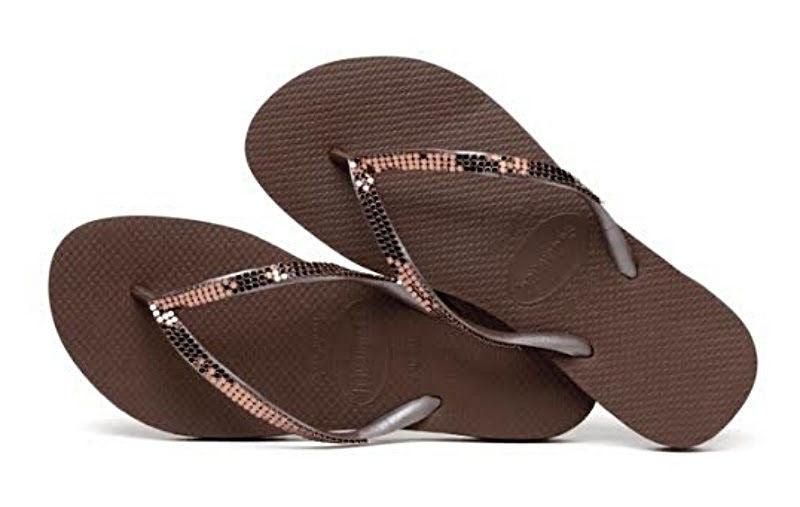 53ec487b50ed ... Havaianas Women`s Flip Flops Slim Metal Mesh Sandal Grape Wine ...