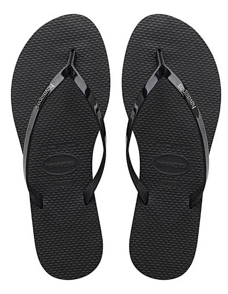 Havaianas Women`s Flip Flops You Metallic Sandals Black Sexy Sandal