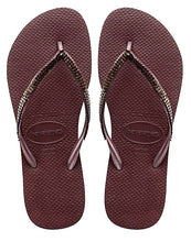 Havaianas Women`s Flip Flops Slim Metal Mesh Sandal Grape Wine