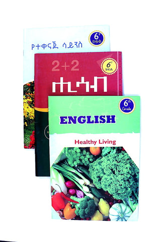 13 Grade-6 English, Math & Science Book Package with FREE SHIPPING