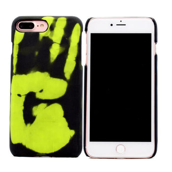Coque thermosensible pour iPhone 5 5s SE 6 6s 7 8 Plus X Xs, change de couleur bleue ou verte-coque thermosensible-kokanboi
