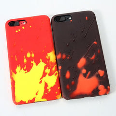 Coque thermosensible pour iPhone 5 5S SE, change de couleur à la chaleur-coque thermosensible-kokanboi