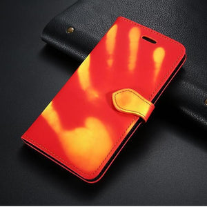 Étui clapet coque thermosensible pour iPhone 8 7 6 6S Plus, change de couleur à la chaleur-étui thermosensible-kokanboi
