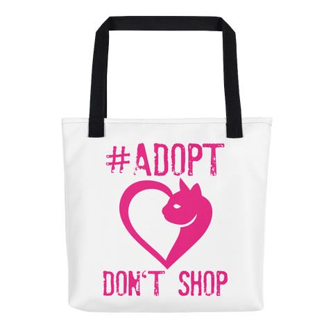 #Adopt Don't Shop-Cat-Tote bag - Weather Resistant - THAT IS MY PET