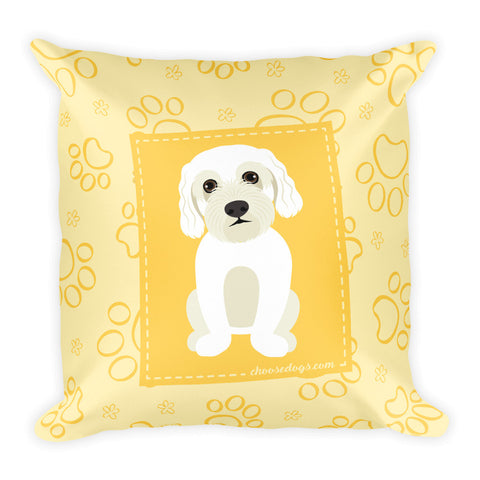 Paw Portrait-Maltese Dog-Cushion/Square Pillow - THAT IS MY PET
