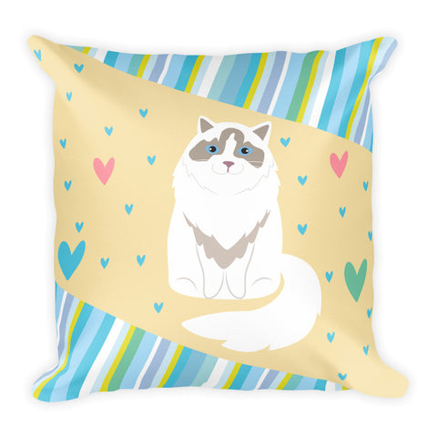 Hearts-Ragdoll-Cushion/Square Pillow - THAT IS MY PET