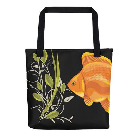 Ryukin Goldfish and Plants - Tote Bag  - Weather Resistant - THAT IS MY PET