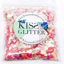 Product Photo without Packaging of 10g pack of iridescent peach Chunky Festival glitter by Kiss & Glitter