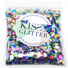 Product Photo without Packaging of 10g pack of holographic rainbow Chunky Festival glitter by Kiss & Glitter