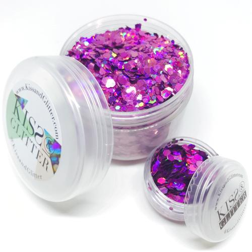 Product Photo of 30g Pink and Purple Holographic Chunky Festival Glitter by Kiss & Glitter