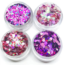 Product Photo of the Purple Rain Chunky Festival Glitters Collection by Kiss and Glitter