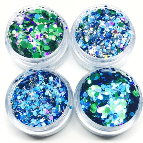 Product photo of Kiss and Glitter Baby Blues Chunky Festival Glitter Collection
