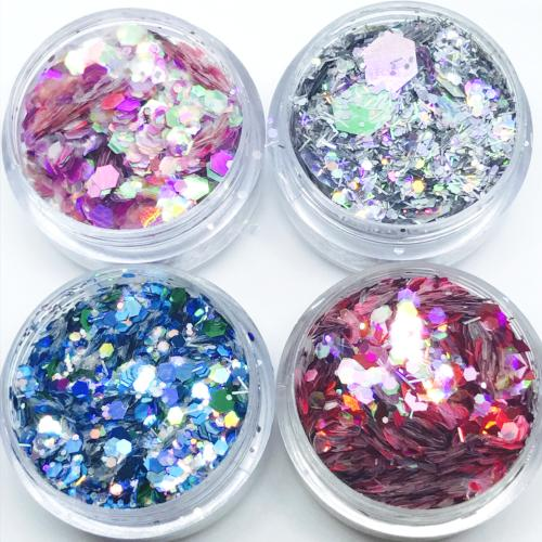 Product photo of the limited edition chunky festival glitter collection by Kiss and Glitter