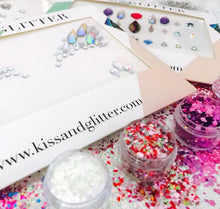 Close up Product Photos with packaging - Chunky Glitters & Face Gems set by Kiss & Glitter