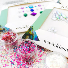 Product Photos with packaging - Chunky Glitters & Face Gems set