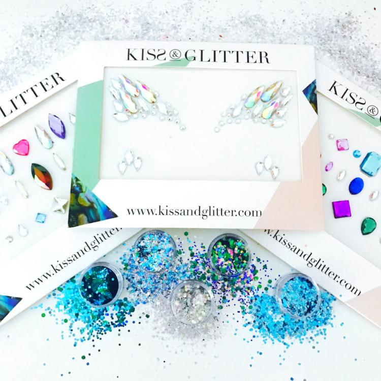 Product Photos with packaging - The Festival Fantasy Chunky Festival Glitters & Face Gems set by Kiss and Glitter