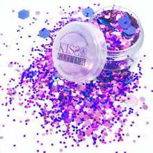 Tina - Blue and Purple Super Chunky Festival Glitter