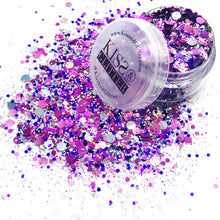 Lady - Purple and Silver Dots Festival Glitter