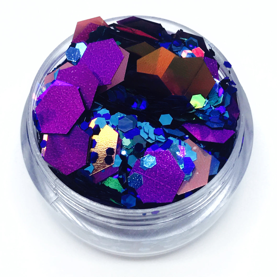 Britney - Blue and Purple Super Chunky Festival Glitter