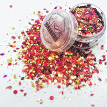 Bee - Holographic Red and Gold Chunky Festival Glitter