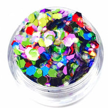 Product Photo close up of Rainbow Chunky Festival glitter by Kiss & Glitter