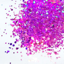 Product Photo without Packaging of holographic purple Chunky Festival glitter by Kiss & Glitter