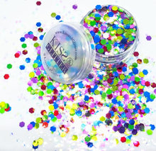 Product Photo with Packaging of Rainbow Chunky Festival glitter by Kiss & Glitter