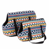Colorful Canvas Shoulder Bag Pet Carrier