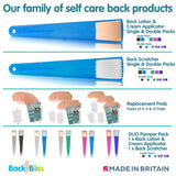 BackBliss Easy Lotion Applicator for ANY Cream to Your Back