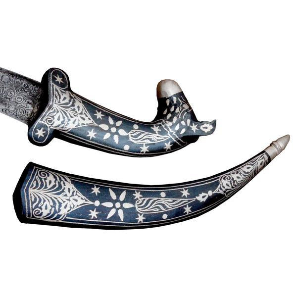 Luxurious Koftgari Work Fitting On Bone Handle Indo Persian Knight Vintage Sword Dagger Knife Scabbard - 12 Inches